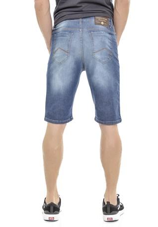 Bermuda Jeans America do Sul Masculina Slim Fit Com Puidos