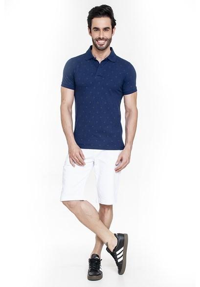 Bermuda Jeans Branca Slim