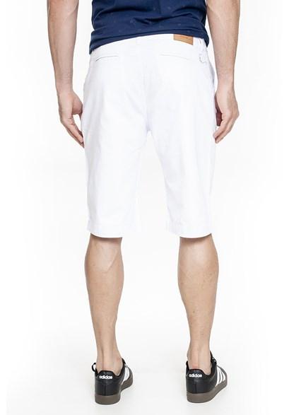 Bermuda Sarja Branca Slim