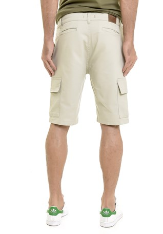 Bermuda Sarja Lemier Collection Cargo Masculina Areia