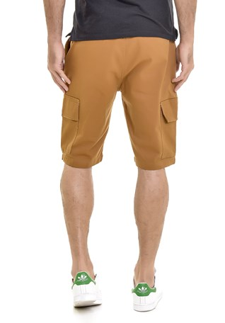 Bermuda Sarja Lemier Collection Cargo Masculina Caramelo