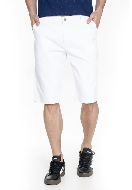 Bermuda Sarja Lemier Collection Slim  Branca
