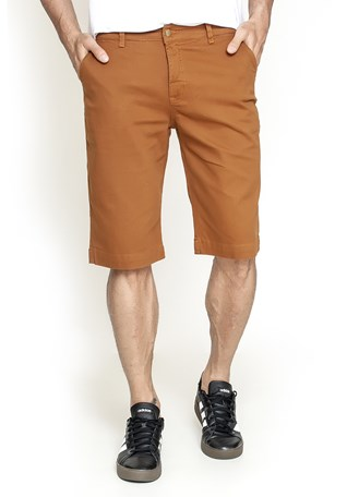 Bermuda Sarja Lemier Collection Slim Color Masculina