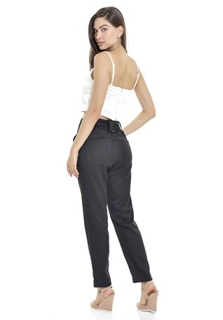 Calça Alfaiataria Lemier Collection Color Com Bolsos Feminina