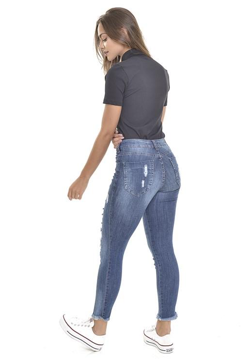 Calça Jeans Dialogo Skinny Amaciada Com Rasgos Feminina