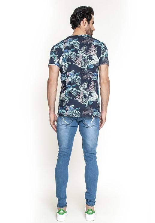 Calça Jeans Dialogo Skinny Com Puídos Masculina