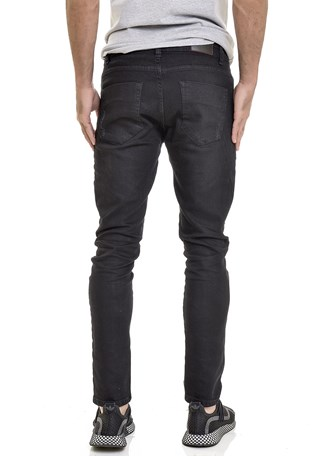 Calça Jeans Dialogo Skinny Preta Masculina