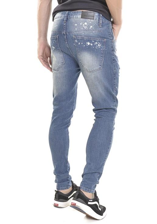 Calça Jeans Dialogo Skinny Vintage Manchada Masculina