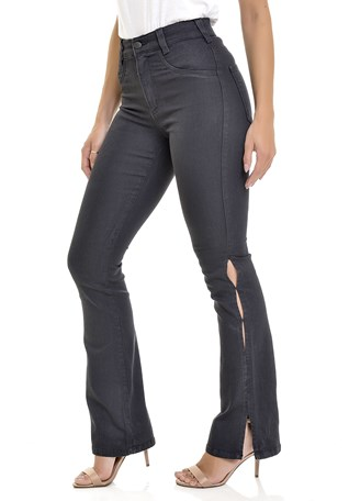 Calça Jeans Lemier Collection Boot Cut Cintura Alta Feminina