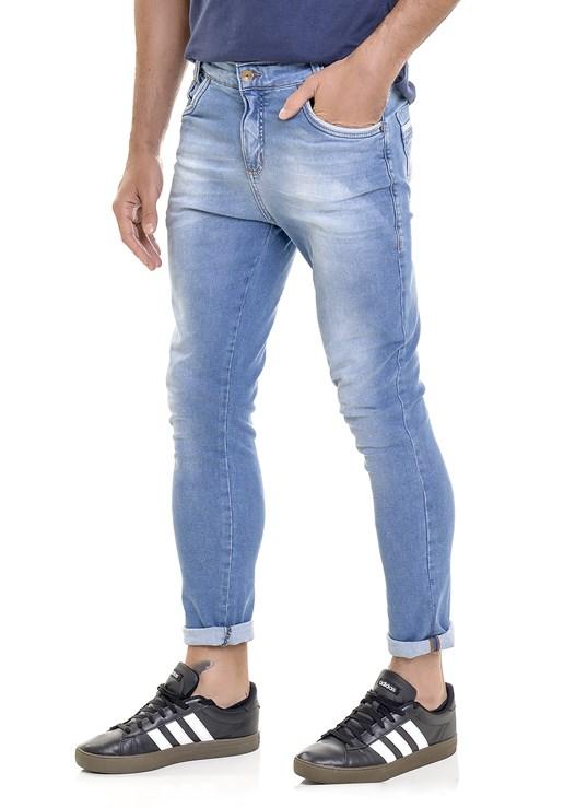 Calça Jeans Lemier Collection Skinny Com Barra Dobrada Masculina