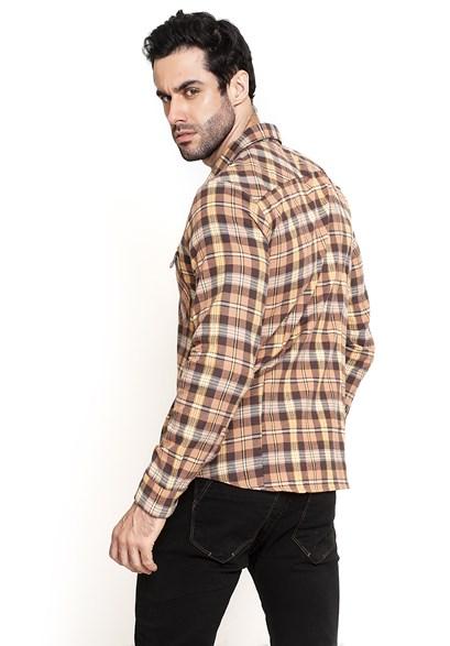Camisa Xadrez com Bolso Frontal