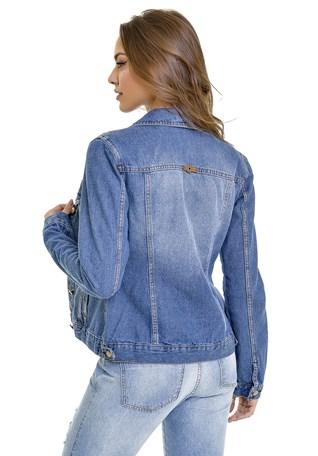 Jaqueta Jeans Lemier Collection Com Botões Na Frente Feminina